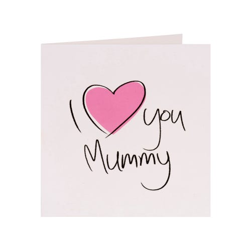 Pink Heart Mummy Mothers Day Card