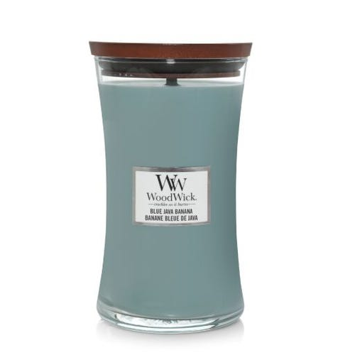 WOODWICK large JAR BLUE JAVA BANANA