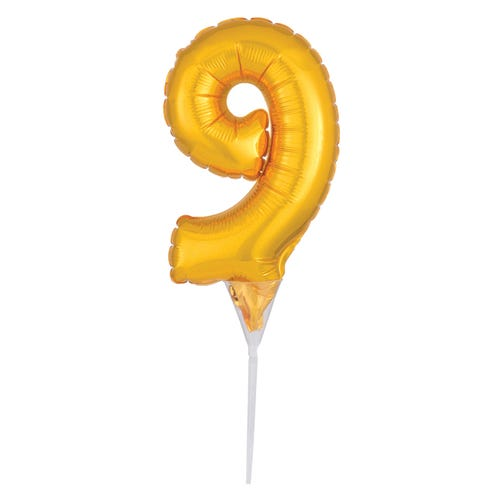 Inflatable Cake Topper Pick Gold 9