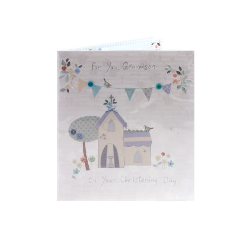 Special Grandson Christening Day Card