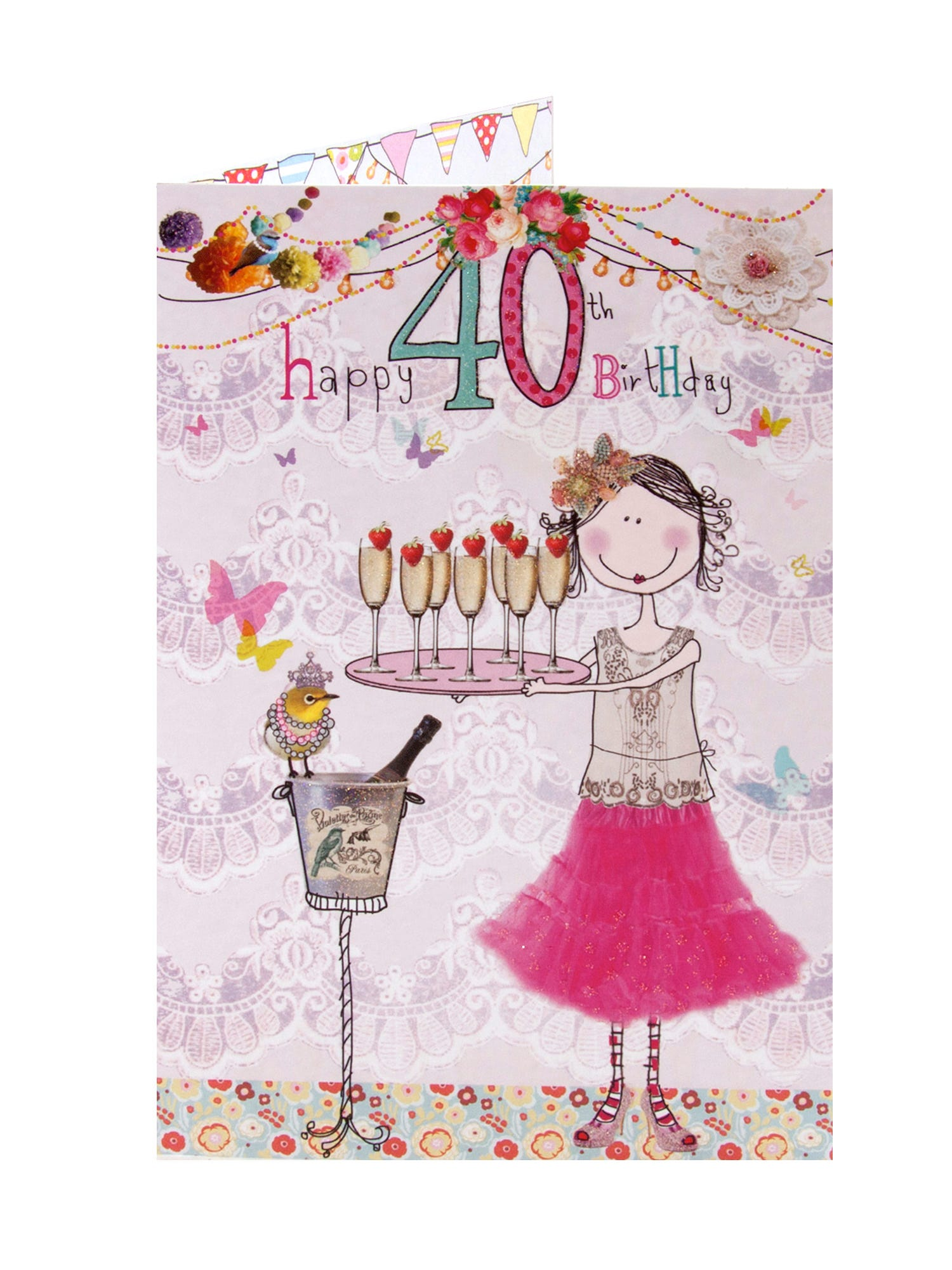 Sparkling Stars 40th Birthday Card For Son