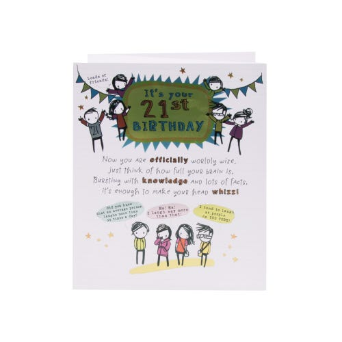 Party Friends 21st Birthday Card
