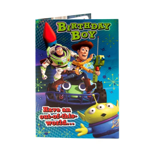 Toy Story Colour-In Birthday Boy Card