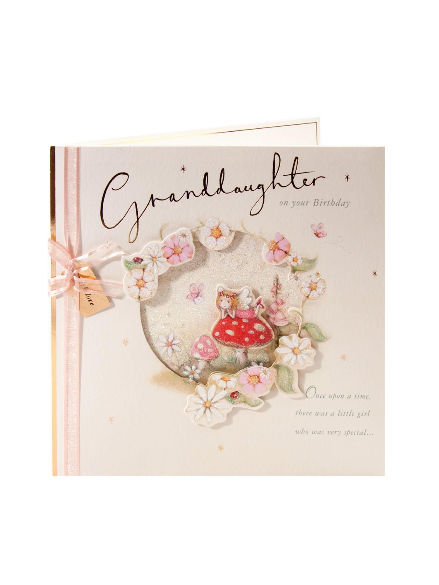 Granddaughters Prom Dress Birthday Card