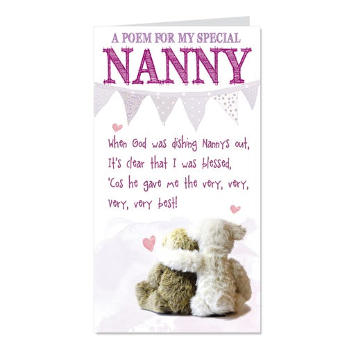 Nanny Birthday Card Blessed
