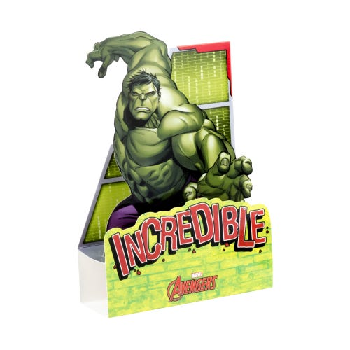 Marvel Avengers The Hulk Pop Up Blank Card