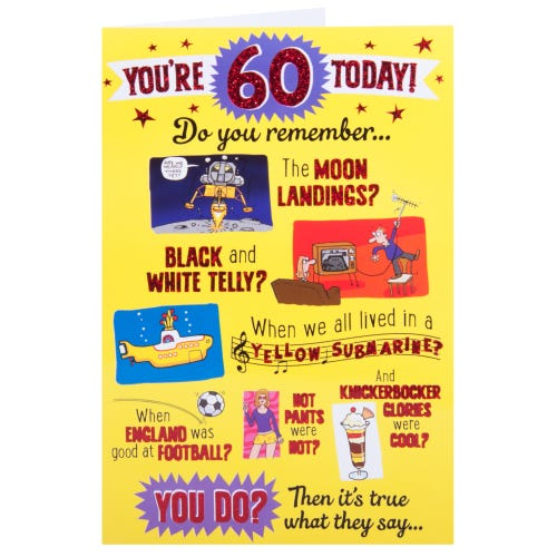 Cartoon Humour Pictures 60th Birthday Card