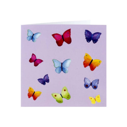 Colourful Butterflies Blank Card
