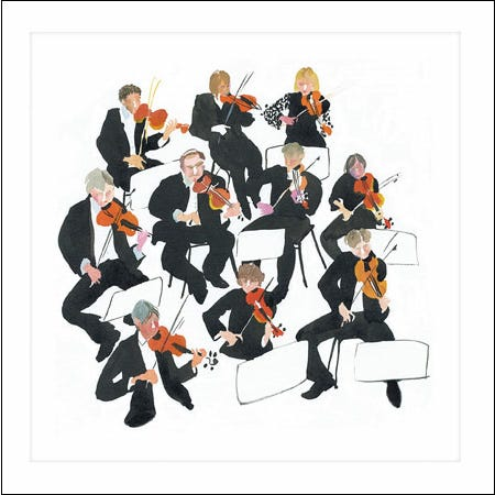 String Orchestra Blank Card