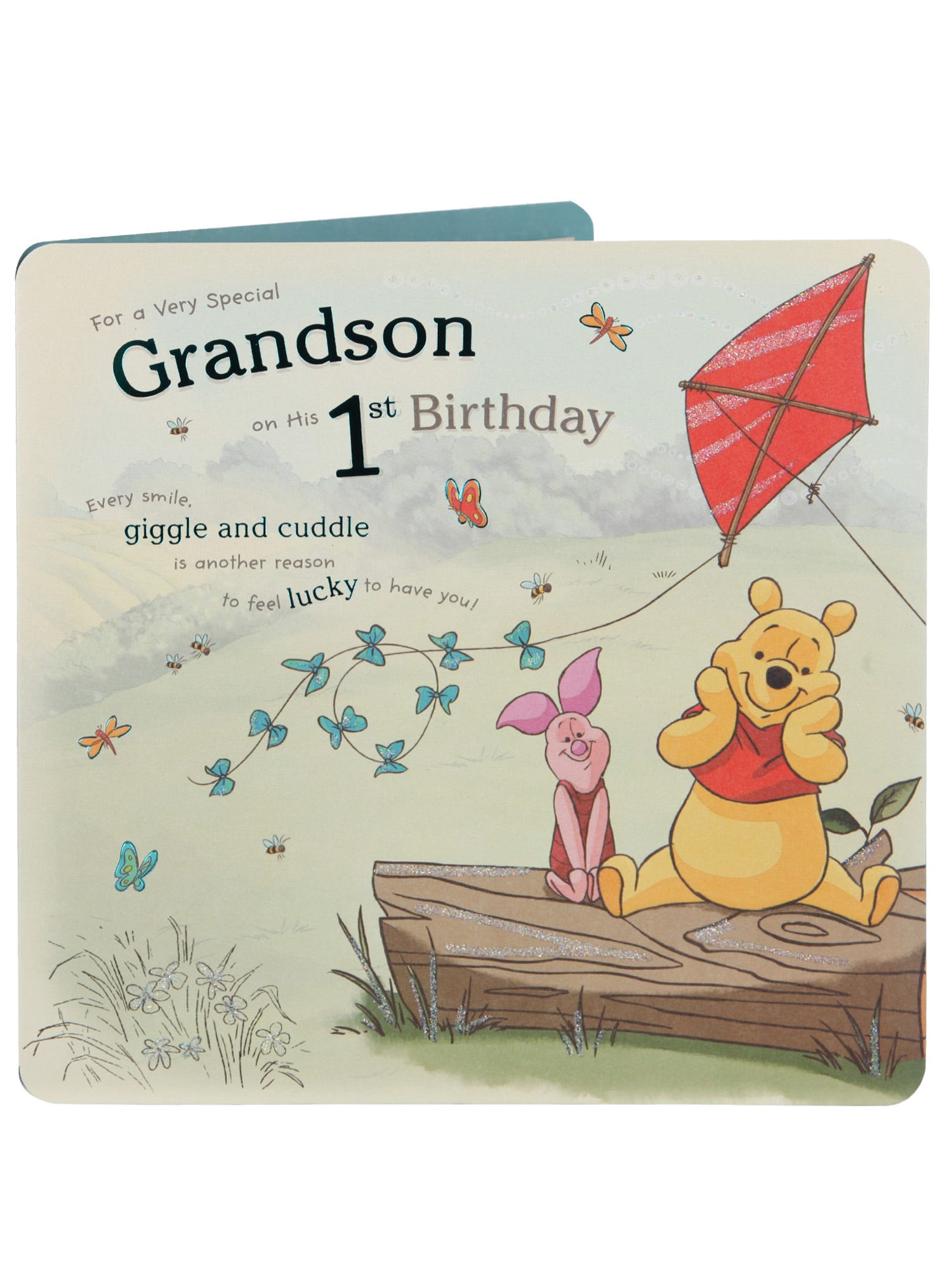 First Birthday Card For Grandson Baby Cards
