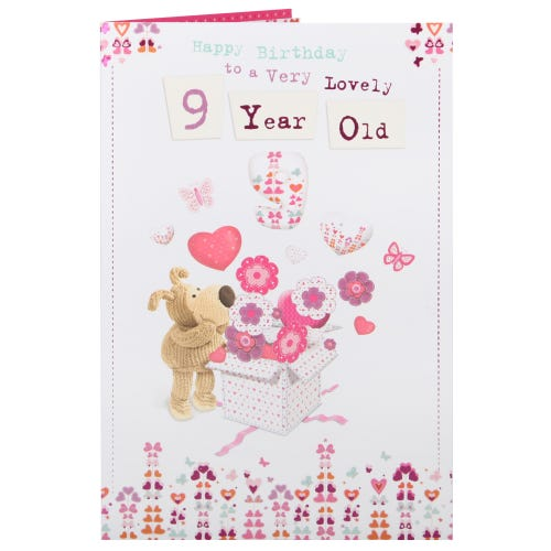 Boofle 9th Birthday Card