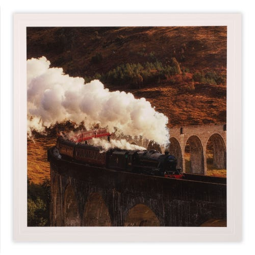 Photographic Train And Steam Blank Card
