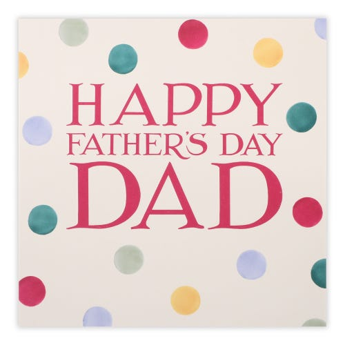 Polka dots Father's Day Card