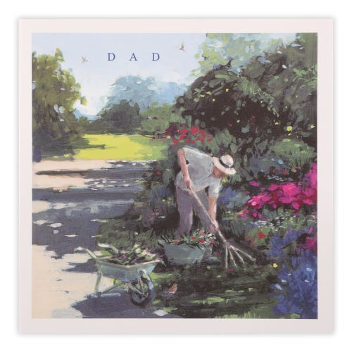 Man in garden Father's Day Card