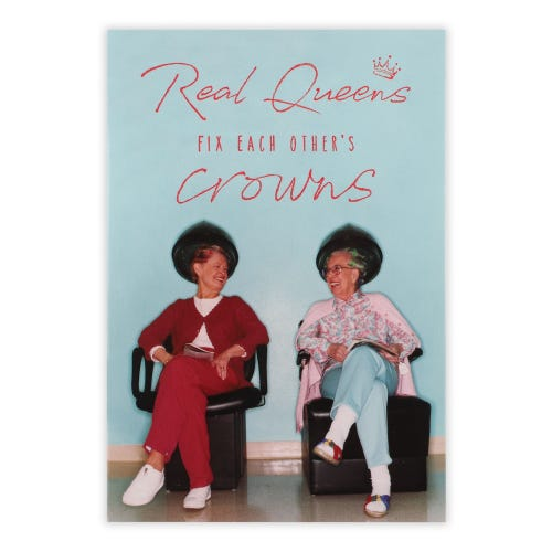 Two Ladies At The Hairdressers Birthday Card