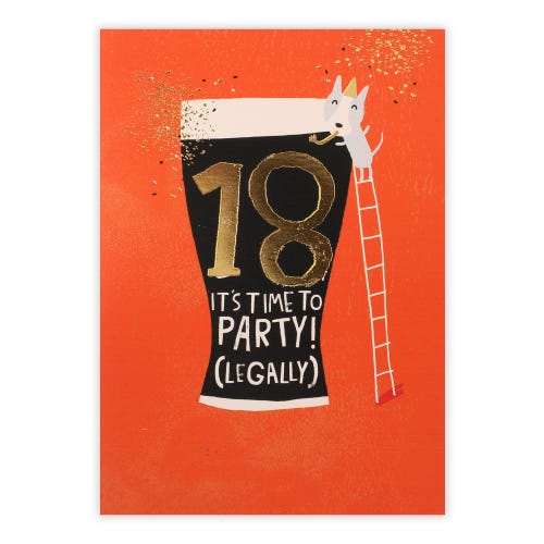 18th Time To Legally Party Card