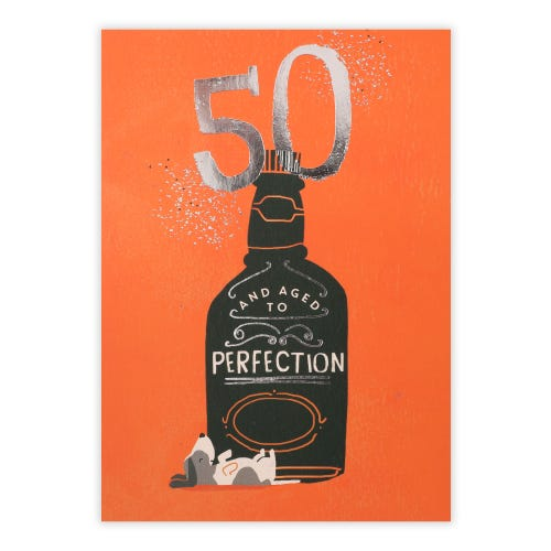 50th Aged To Perfection Card
