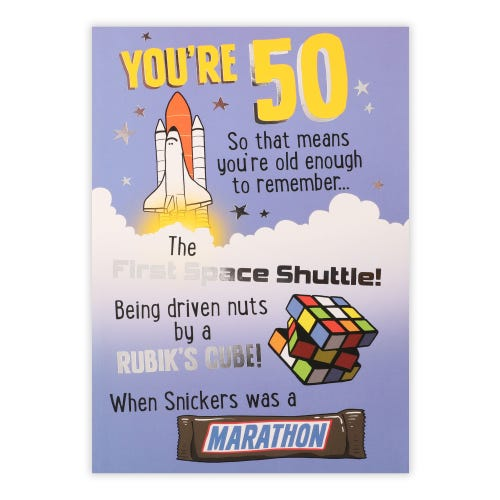 50th Remember When Birthday Card