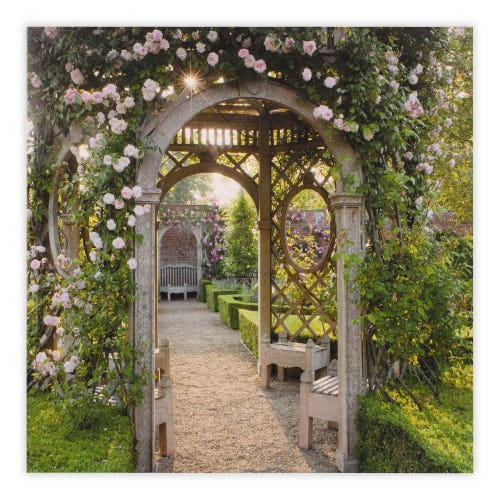 Photographic BBC Ornate Wooden Arbour Blank Card