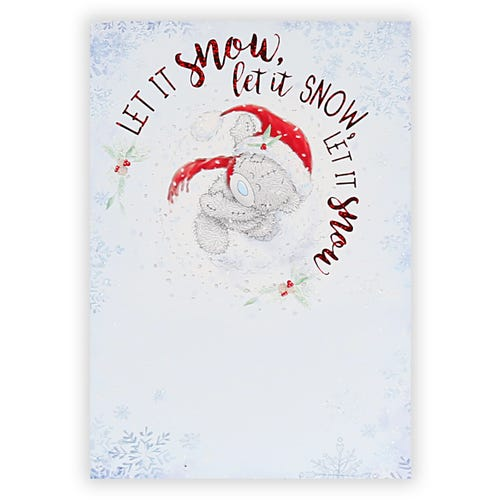 Bear Throwing Snowball General Christmas Card
