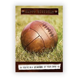 League of your own! Old football