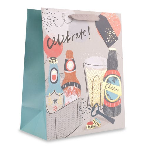Male Finest Fizz Large Gift Bag