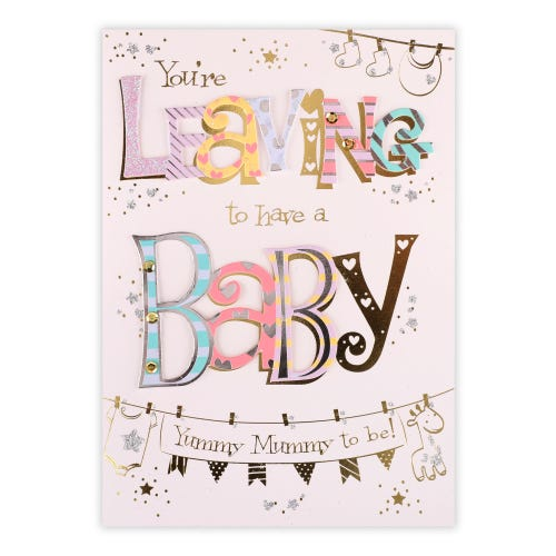 Leaving To Have Baby Card