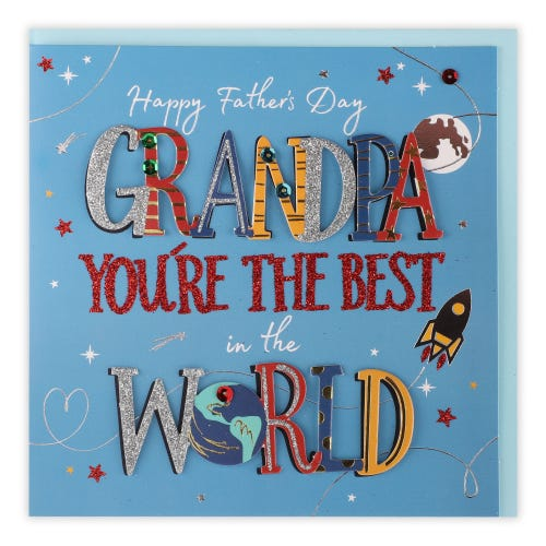 Grandpa Talking Pictures Father's Day Card