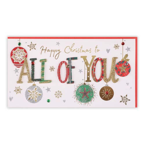 To All Handmade Lettering Christmas Card