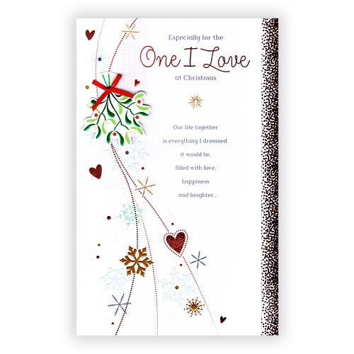 Especially for One I Love Christmas card