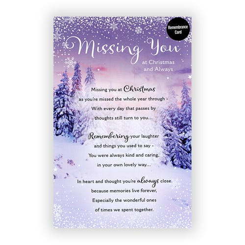 Miscellaneous Christmas Remembrance card