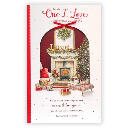 One I Love at Christmas and always card