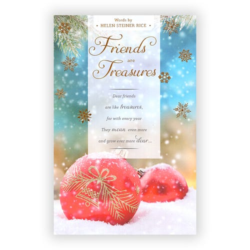 Friends are Treasures Christmas Card