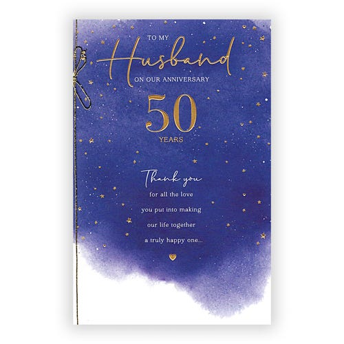 Husband 50th Wedd Anniv Card