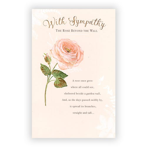 Rose Beyond the Wall Sympathy Card