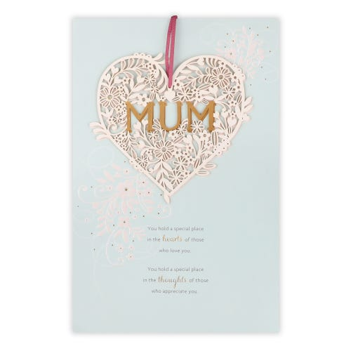 Mum Heart Keepsake Birthday Card