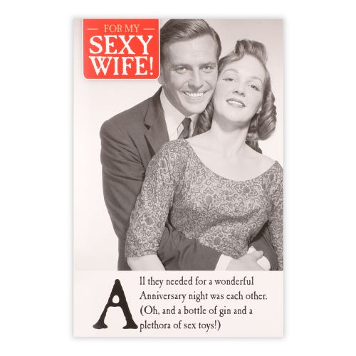 Sexy Wife Anniversary Card