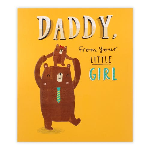 Daddy from Daughter brown bears Father's Day Card