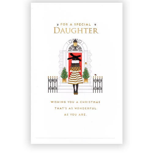 Daughter as Wonderful as you are Christmas card
