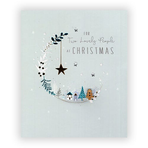 For two Lovely People at Christmas card