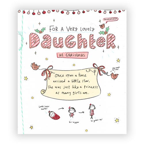 Very Lovely Daughter Christmas card