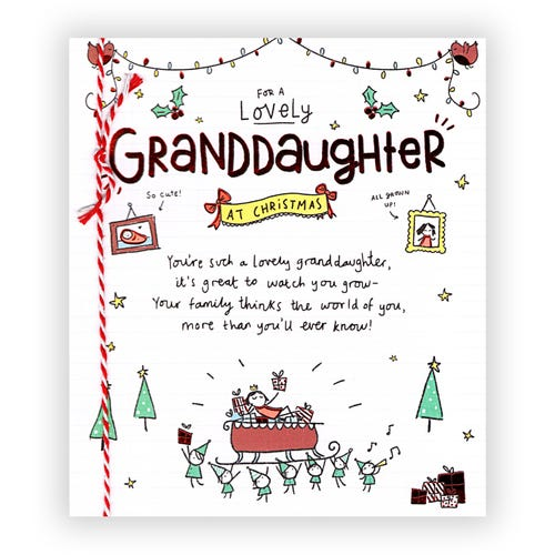 For A Lovely Granddaughter at Christmas card