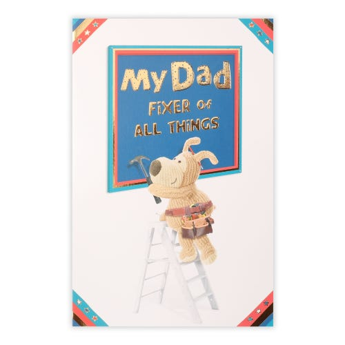 Boofle on ladder Father's Day Card