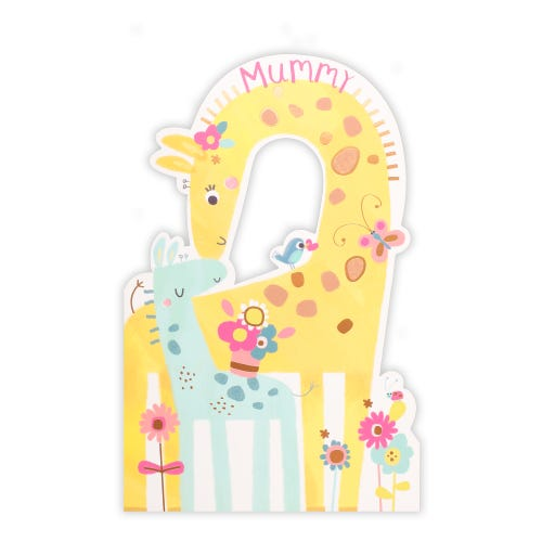 Cute mummy giraffe and little one Mother's Day Card