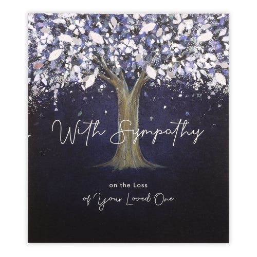 With Sympathy On The Loss Of Your Loved One Tree Card