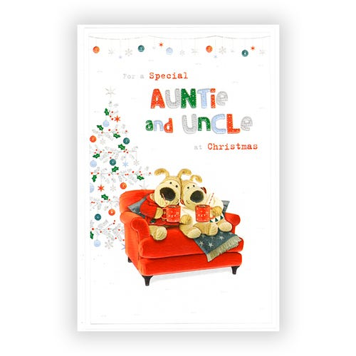 Special Auntie & Uncle Christmas card