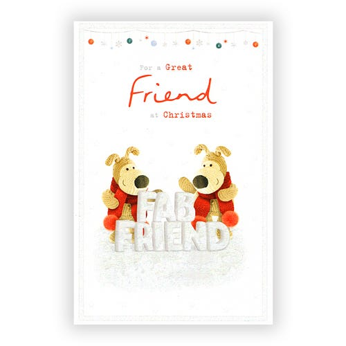 Great Friend at Christmas Card