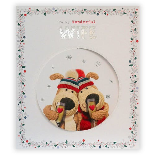 The one who means the world to me Wife Christmas card