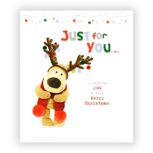 Just for you, lots fo love Christmas card