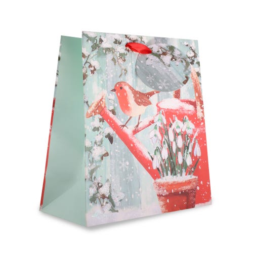 CHRISTMAS TRADITIONAL ROBIN MEDIUM BAG